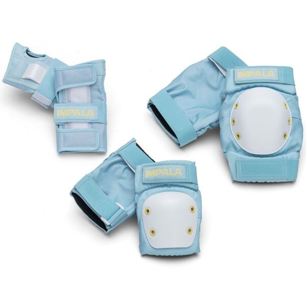 set protecție cotiere genunchiere și mâniere bleu