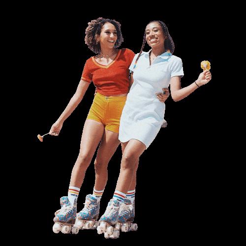 fete pe patine cu rotile campanie 50% reducere
